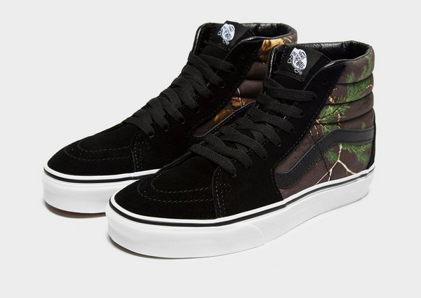 Shop den Vans x Realtree Xtra Sk8 Hi Damen in Schwarz | JD