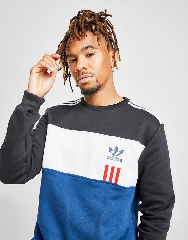 Buy Grey adidas Originals ID 96 Crew Sweatshirt | JD Sports
