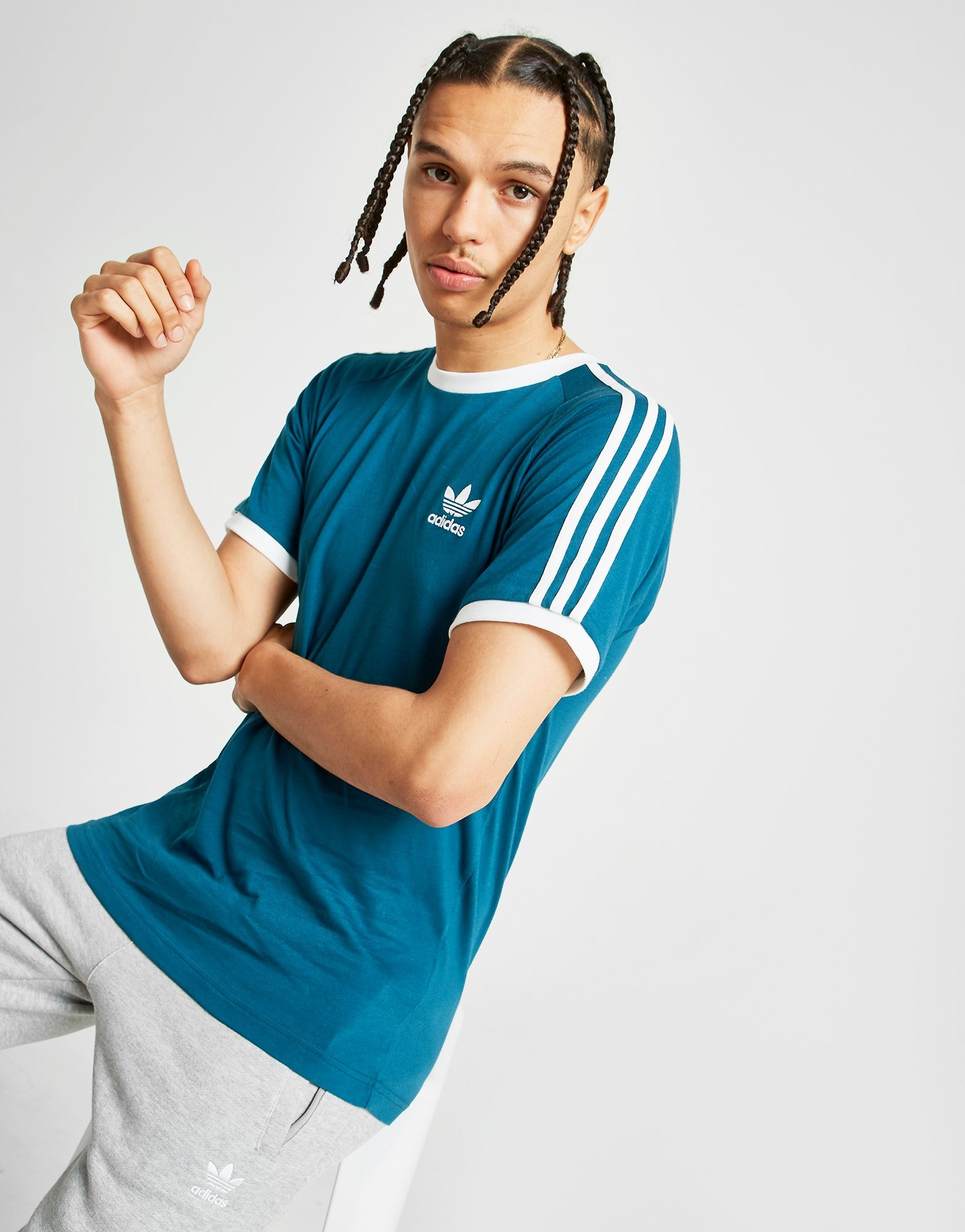 adidas Originals 3-Stripes California Short Sleeve T-Shirt Heren | JD Sports