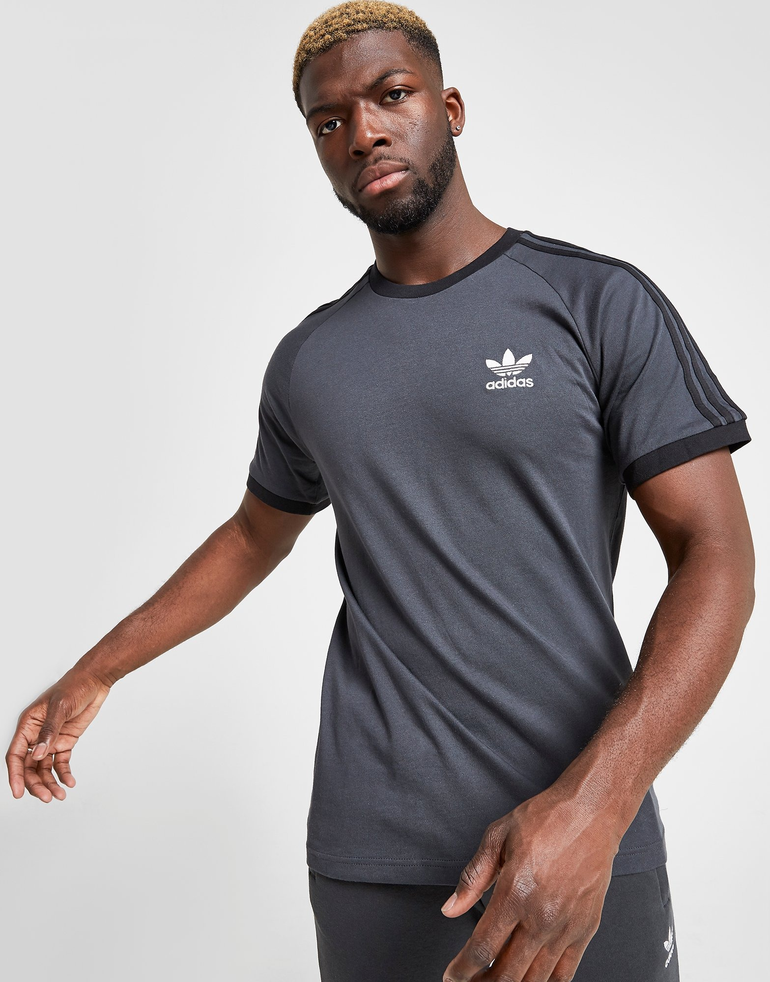 adidas Originals T Shirt 3 Stripes California Manches Courtes Homme | JD Sports