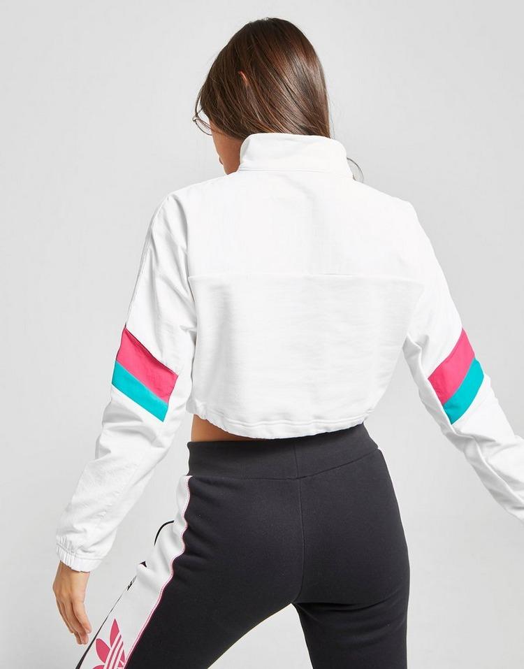 adidas Originals Trail Crop 14 Zip Sweatshirt | JD Sports