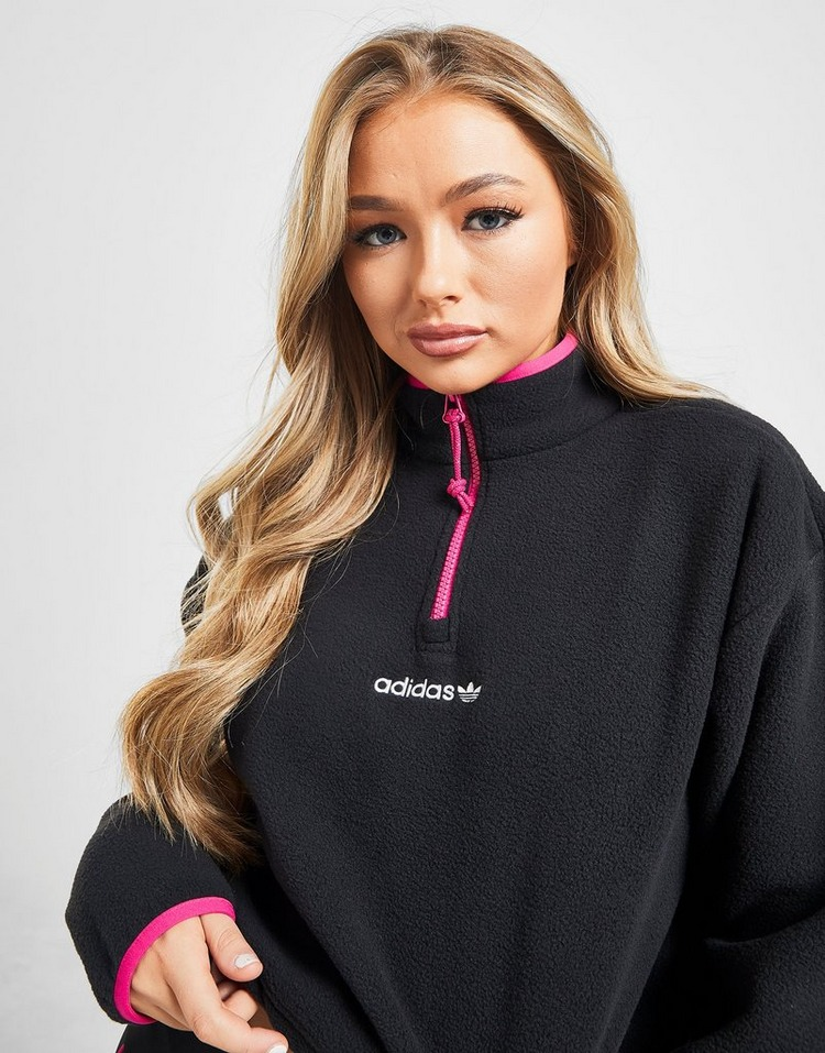 adidas Originals Trail 1/4 Zip Crop Polar Fleece Sweatshirt