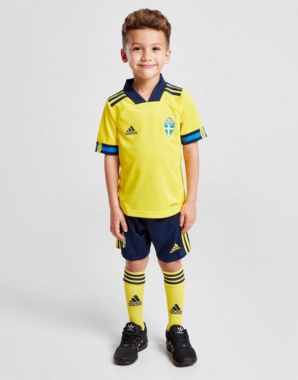 adidas Sweden 2020 Home Kit Children