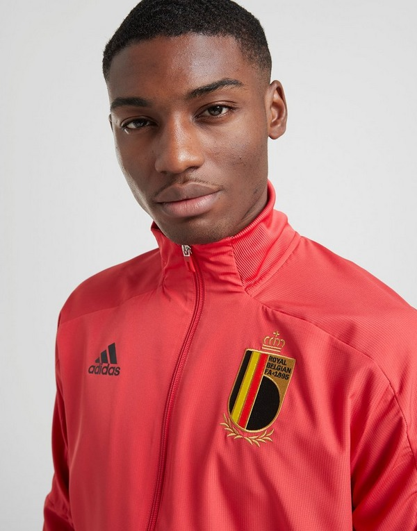 Buy Red adidas Belgium Presentation Jacket | JD Sports