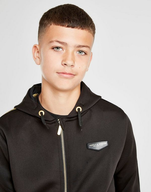 Supply & Demand Twisted Zip Through Hoodie Junior