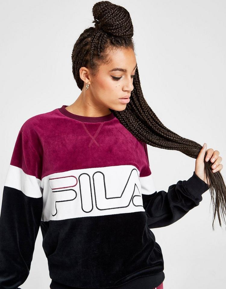 Fila Panel Velour Crew Sweatshirt