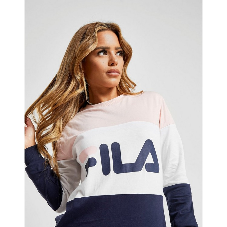 Fila Colour Block Long Sleeve Boyfriend T-Shirt