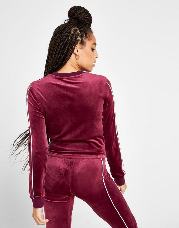 Fila Velvet Long Sleeve Crop Top