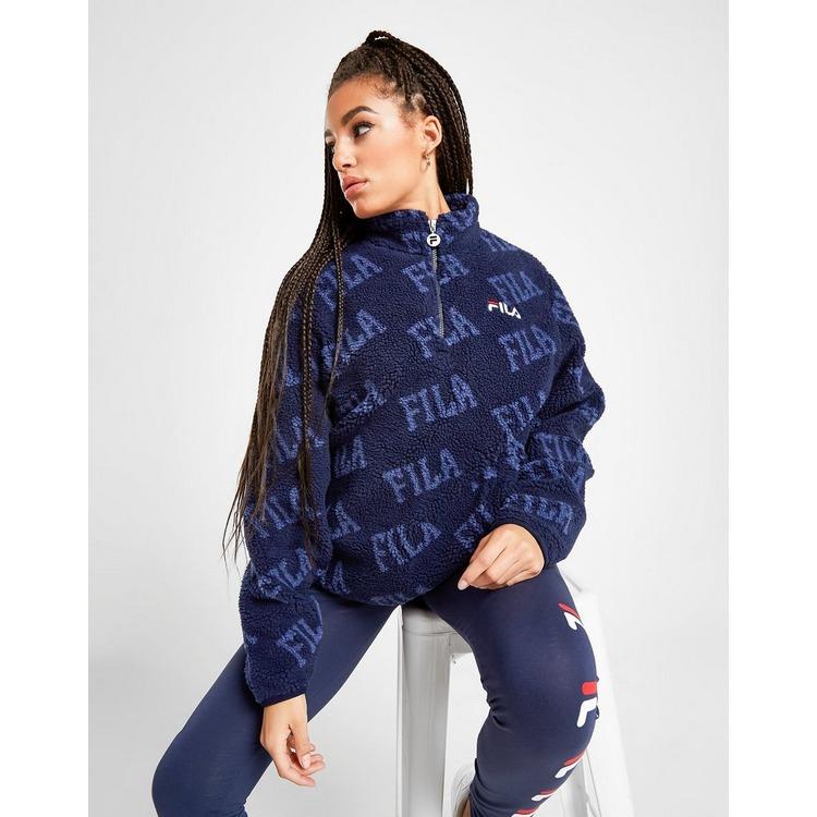 Fila Sweat-shirt 1/4 Zippé Sherpa Femme