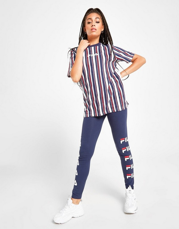 Fila Logo Striped Boyfriend T-Shirt