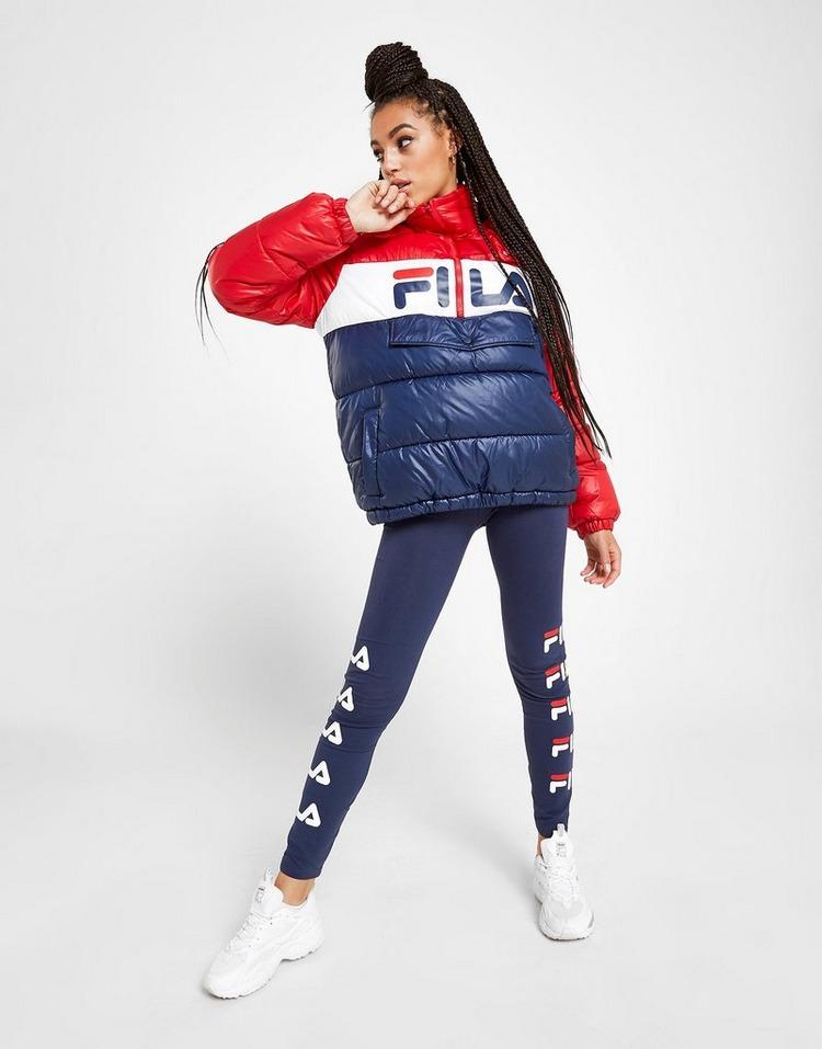 Fila Colour Block Padded 1/4 Zip Jacket