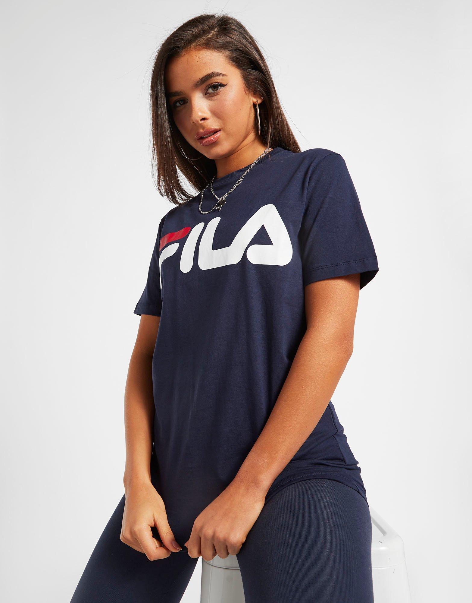 Fila Core Logo Boyfriend T Shirt Dame | JD Sports