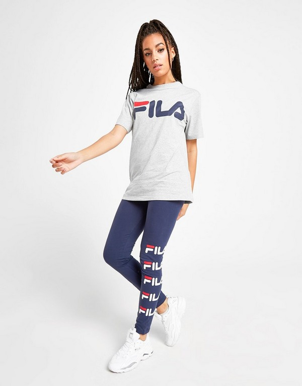 Køb Fila Core Logo Boyfriend T Shirt Dame i Grå | JD Sports
