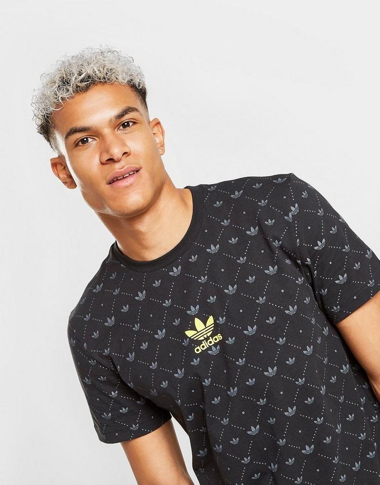 Buy Black adidas Originals Mono All Over Print T Shirt | JD