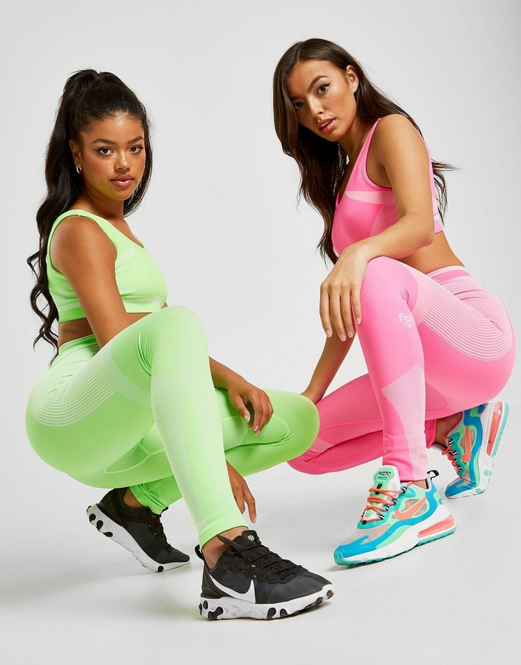 Pink Soda Sport Neon Seamless Tights