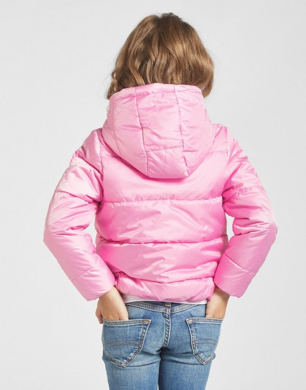 Nike Kids Girls Pink Padded Jacket Infant Baby Toddler Coat Hooded Jacket Zip