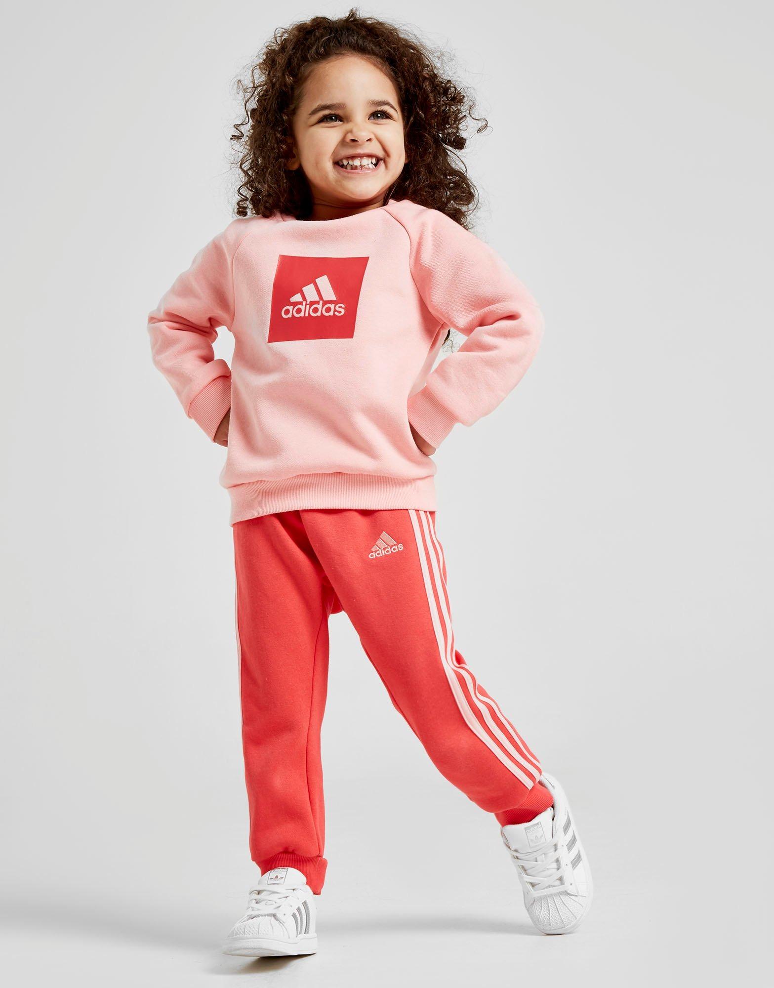 adidas Girls' Badge Of Sport Box Crew Trainingsanzug Babys | JD Sports