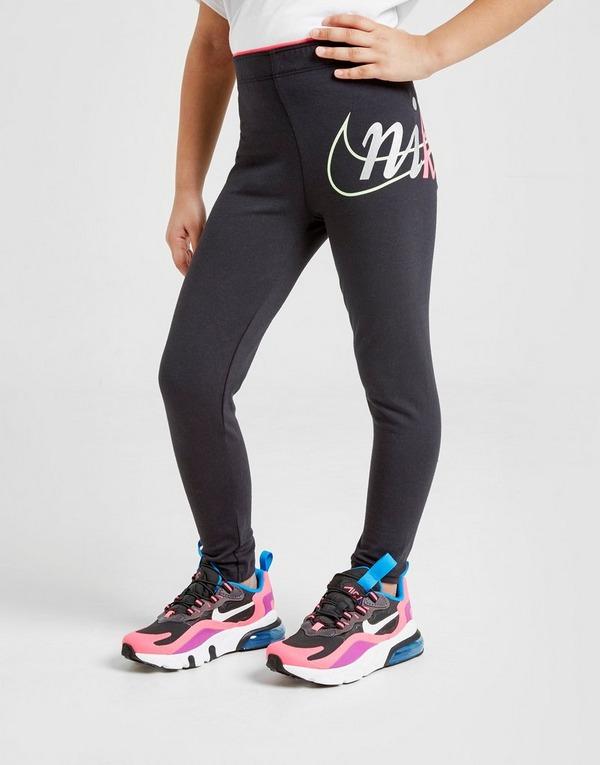 Nike Girls' Shine Logo Leggings Children