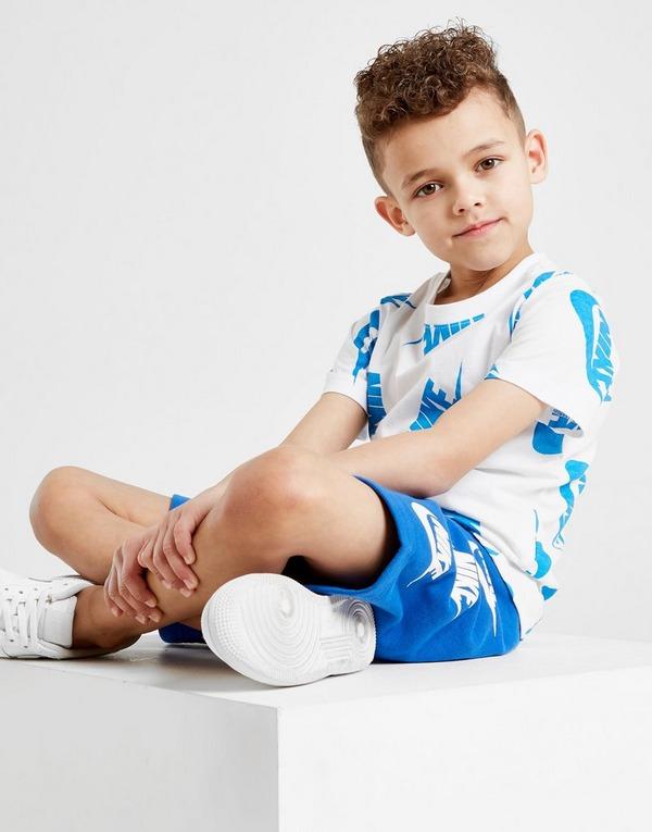 Nike All Over Print T-Shirt/Shorts Set Children