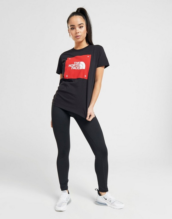Køb The North Face Box Logo Boyfriend T Shirt Dame i Sort
