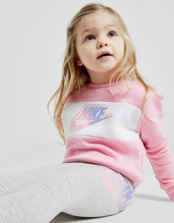 Nike Girls' Colour Block Crew Tracksuit Infant