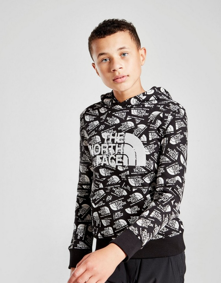 The North Face Drew Peak All Over Print Hoodie Junior