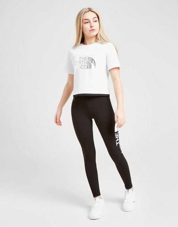 The North Face Girls' Crop Foil T-Shirt Junior