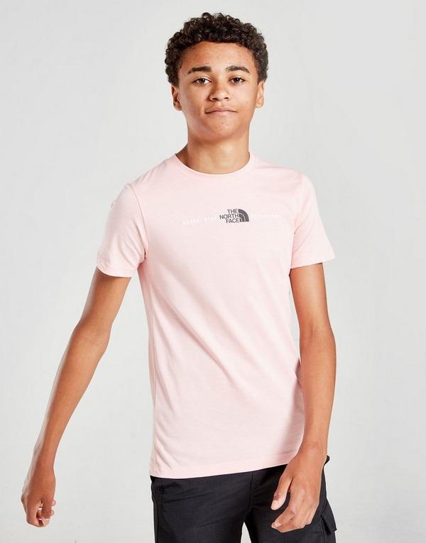 Koop Pink The North Face Central Logo T Shirt Junior | JD Sports