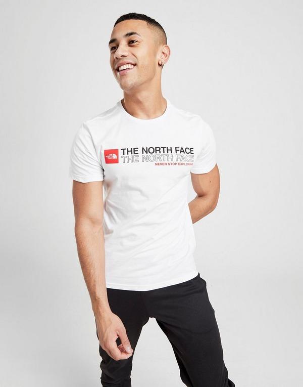 Acheter White The North Face T shirt Stack Logo Homme