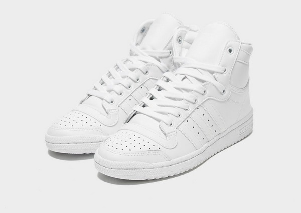Compra adidas Originals Top Ten Hi para mujer en Blanco | JD ...