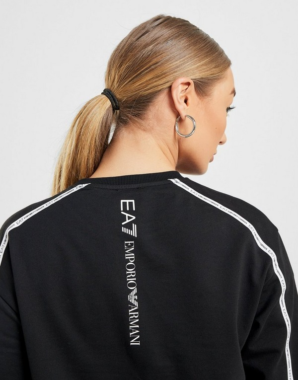 Acquista Emporio Armani EA7 Silver Tape Felpa Donna in Nero