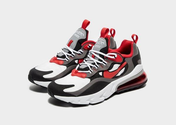 Shoppa Nike Air Max 270 React Junior i en Grå färg | JD