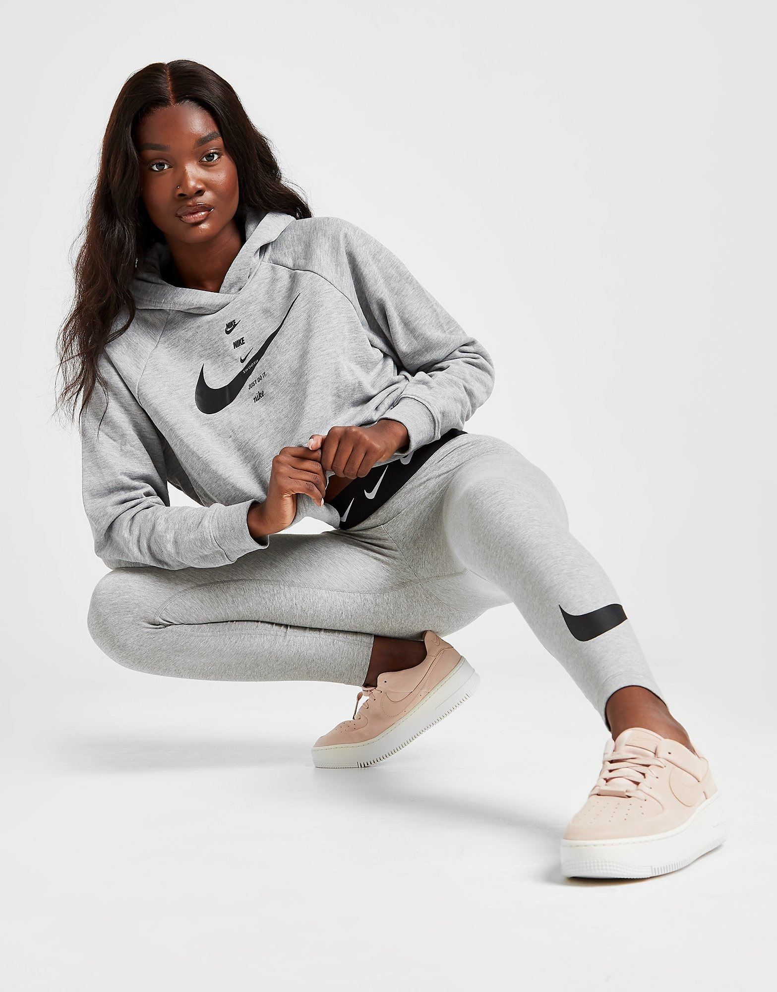Nike High Waisted Single Swoosh Leggings Dames | JD Sports