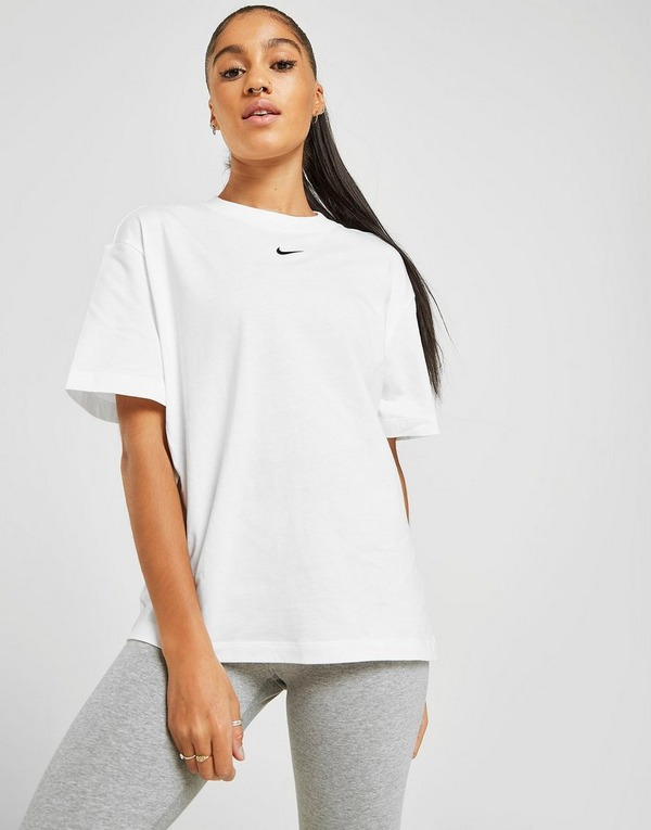 Buy White Nike Essential Logo Boyfriend T-Shirt Women's | JD ...