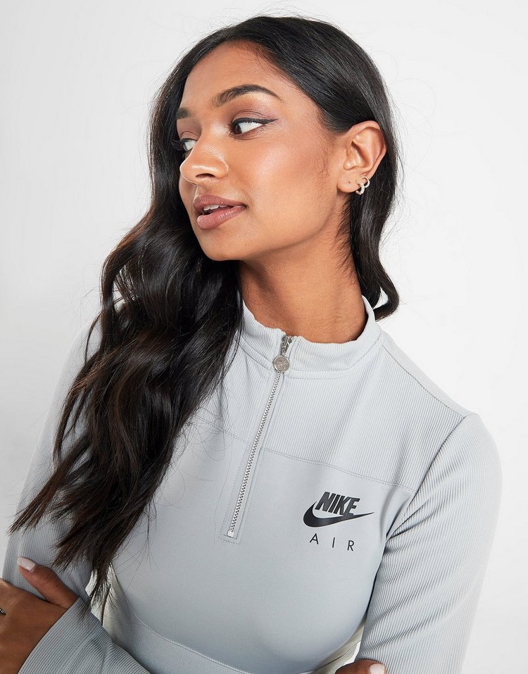 Nike Air Long Sleeve 14 Zip Crop Top | JD Sports