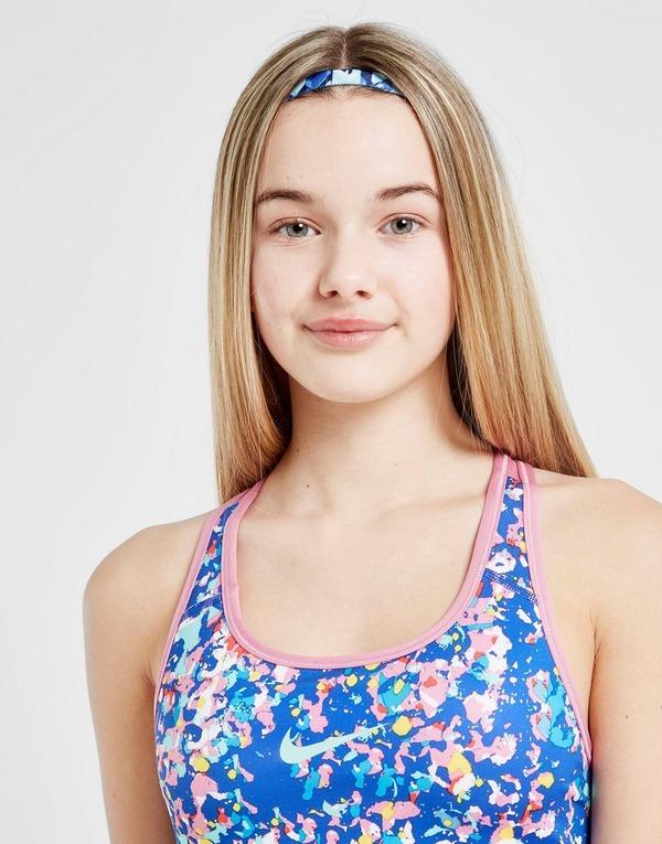 Nike Girls' Reversible All Over Print Sports Bra Junior