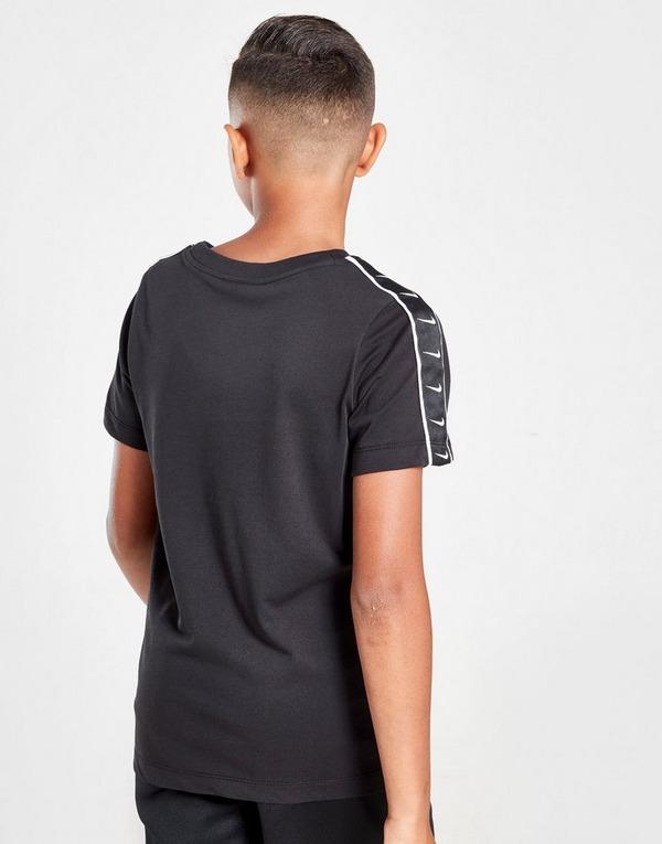Acheter Black Nike T Shirt Swoosh Tape Junior