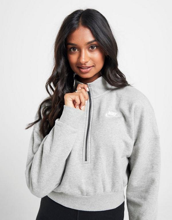 Shop den Nike Essential Crop Sweatshirt Damen in Grau
