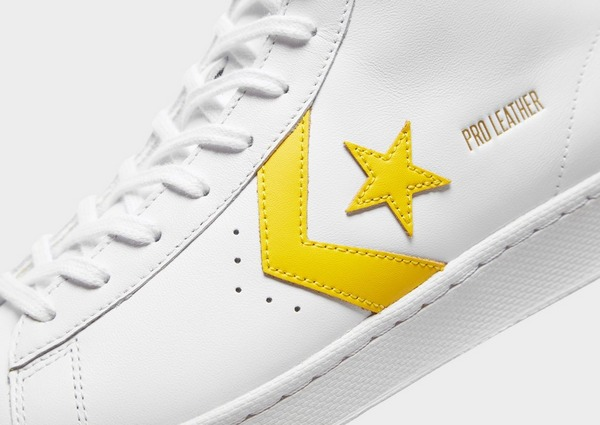 Buy White Converse Pro Leather Hi | JD Sports