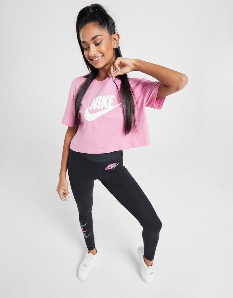 Nike W Essential Crop Tee Rosa (Bomull & Annat Material