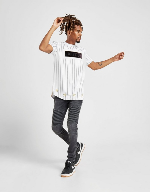 Supply & Demand Roll Pinstripe T-Shirt