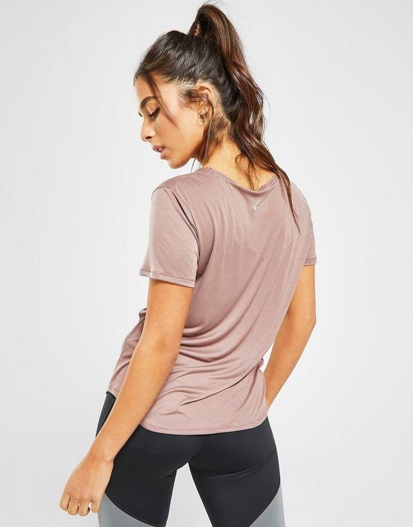 Acheter Pink Nike Haut Running Swoosh Miler Manches Courtes