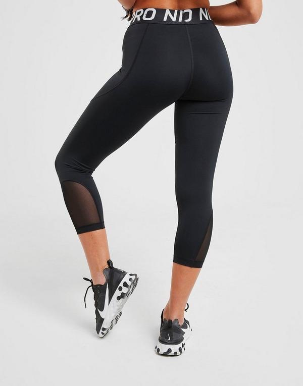 Køb Nike Training Pro Capri Tights i Sort | JD Sports