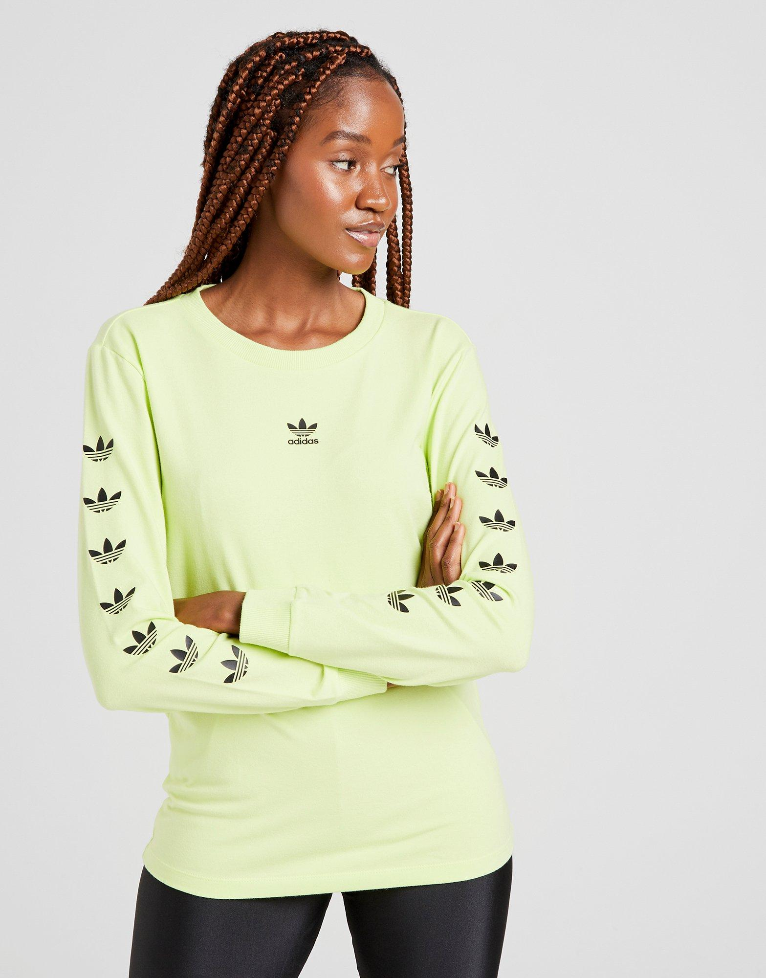 adidas Originals Repeat Trefoil Långärmad T Shirt Dam