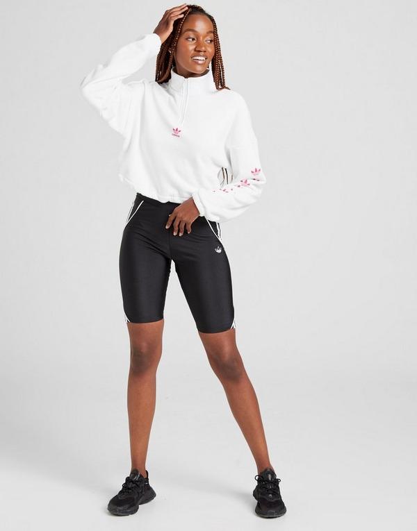 Koop Wit adidas Originals Repeat Trefoil 14 Zip Top Dames