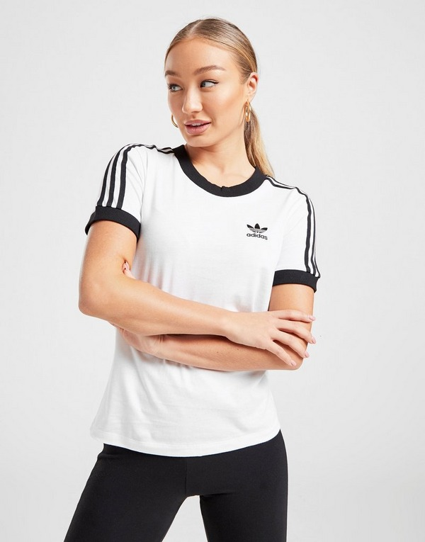 Shoppa adidas Originals 3 Stripes California T Shirt Dam