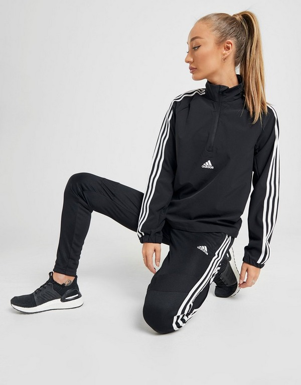 adidas 3 Stripes Woven 14 Zip Jacket | JD Sports