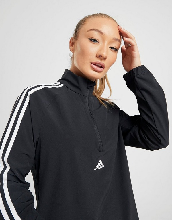 Shop den adidas 3 Stripes Woven Jacke Damen in Schwarz