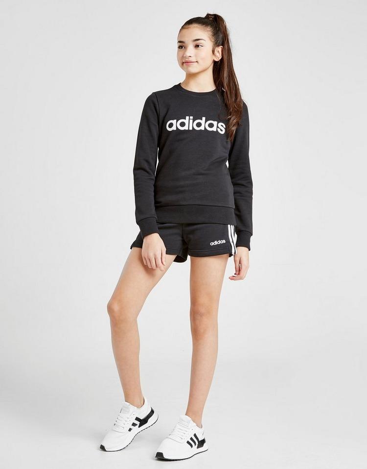 adidas Girls' Core 3-Stripes Shorts Junior