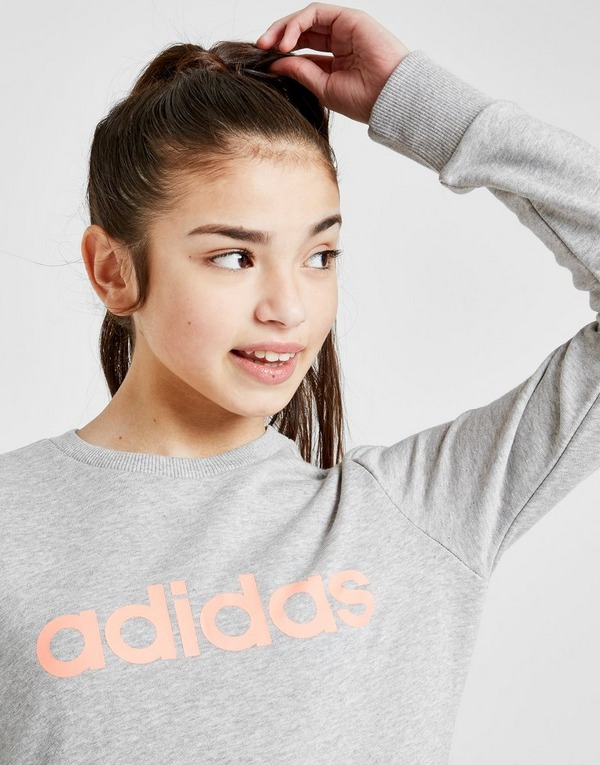 adidas Girls' Logo Crew Sweatshirt Junior